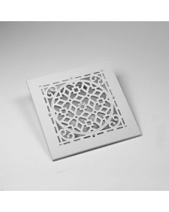 6X6 ANTIQUE GRILLE WHITE