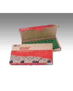 """Novent Green R22 Cap 1/4"""" thread, 50 pk"""